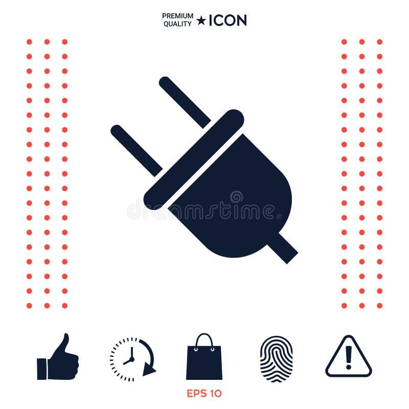 Download Simbolo Dell'icona Della Spina Illustrazione Vettoriale - Illustrazione di collegare, energia: 117976414