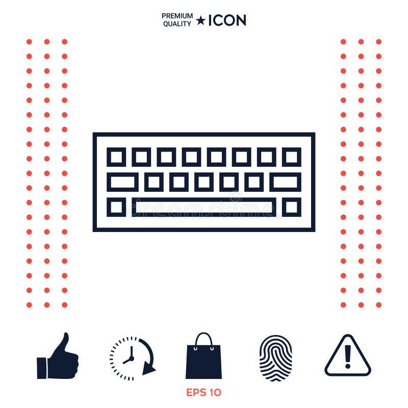 Download Simbolo Dell'icona Della Tastiera Illustrazione Vettoriale - Illustrazione di tavolo, calcolatore: 117975759