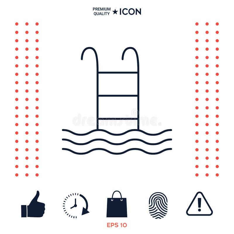 Download Simbolo Dell'icona Dello Stagno Illustrazione Vettoriale - Illustrazione di estate, siluetta: 117976382