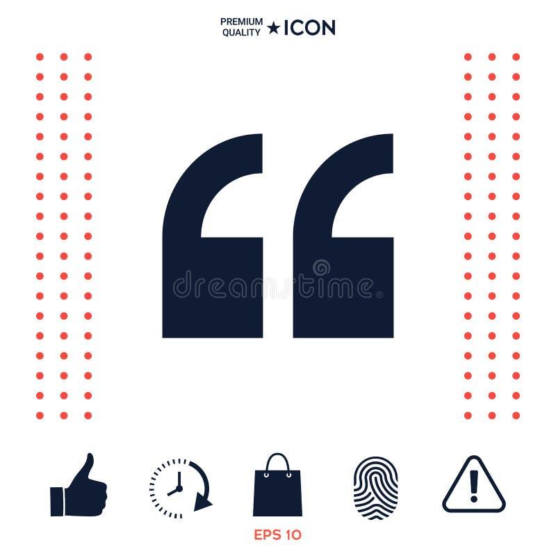 Download Simbolo Dell'icona Di Citazione Illustrazione Vettoriale - Illustrazione di information, simbolo: 117976546