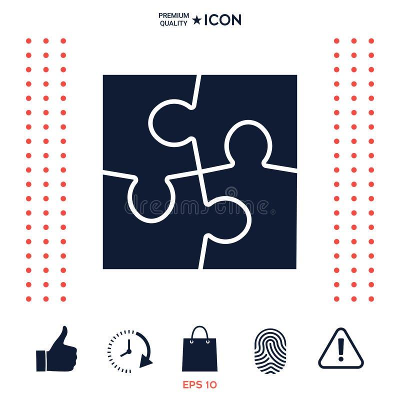 Download Simbolo Dell'icona Di Puzzle Illustrazione Vettoriale - Illustrazione di gruppo, ordine: 117976494