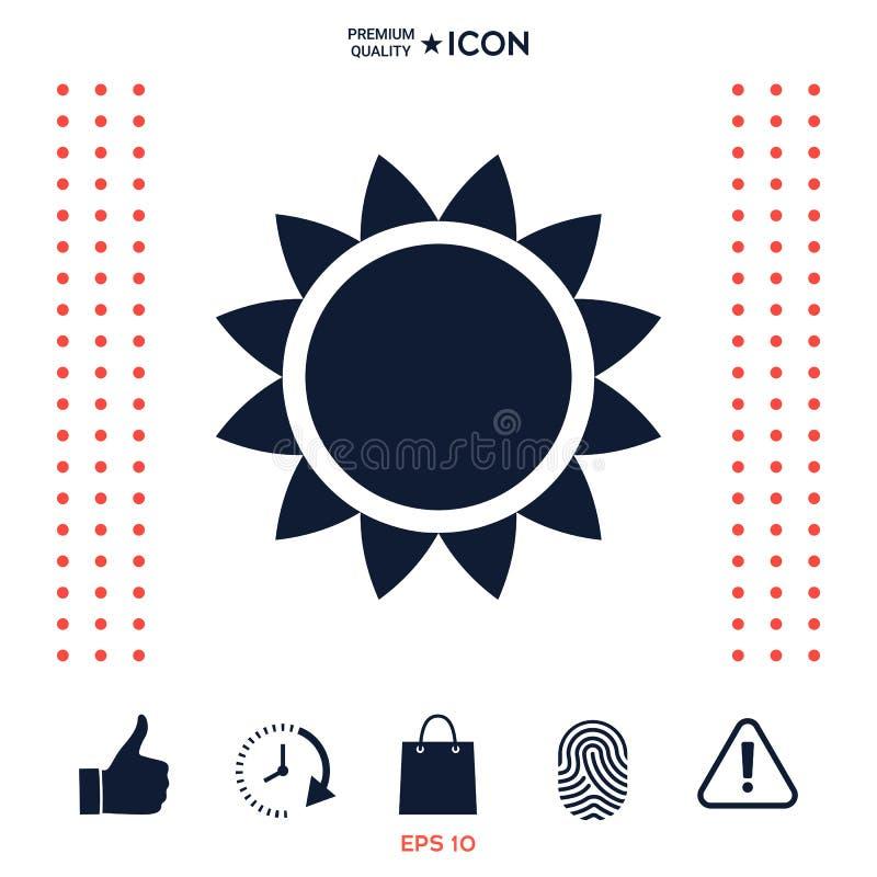 Download Simbolo dell'icona di Sun illustrazione vettoriale. Illustrazione di sunlight - 117977030