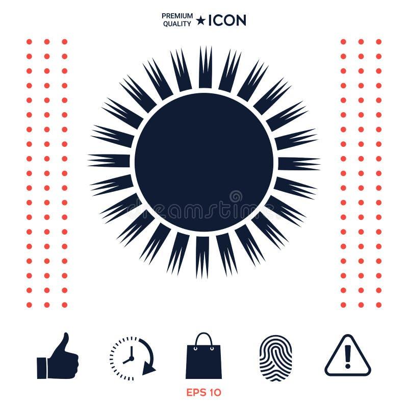 Download Simbolo dell'icona di Sun illustrazione vettoriale. Illustrazione di segno - 117977055