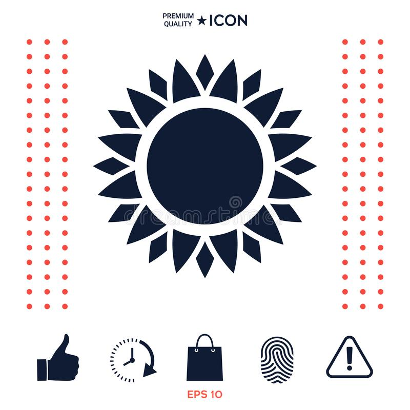 Download Simbolo dell'icona di Sun illustrazione vettoriale. Illustrazione di alba - 117977061