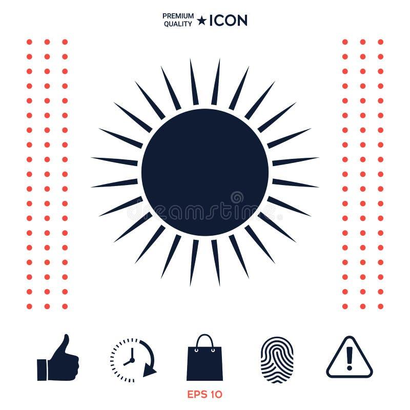 Download Simbolo dell'icona di Sun illustrazione vettoriale. Illustrazione di simbolo - 117977070