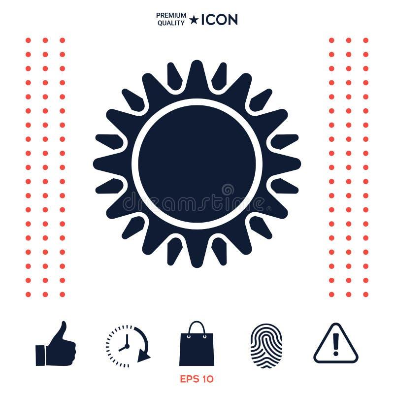 Download Simbolo dell'icona di Sun illustrazione vettoriale. Illustrazione di tempo - 117977075