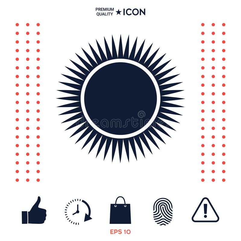 Download Simbolo dell'icona di Sun illustrazione vettoriale. Illustrazione di calore - 117977118