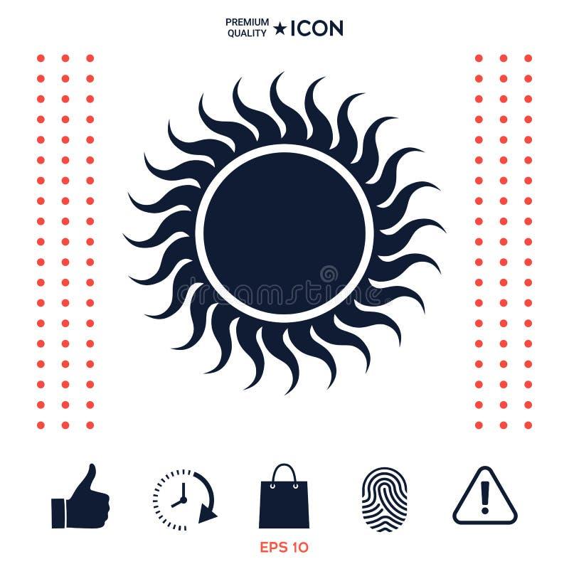 Download Simbolo dell'icona di Sun illustrazione vettoriale. Illustrazione di clima - 117977145