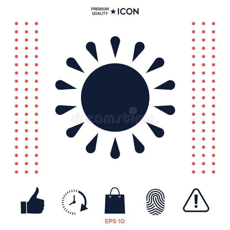 Download Simbolo dell'icona di Sun illustrazione vettoriale. Illustrazione di meteorologia - 117977178