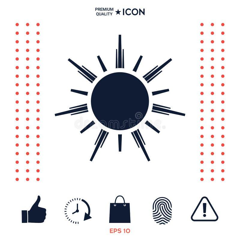 Download Simbolo dell'icona di Sun illustrazione vettoriale. Illustrazione di illustrazione - 117977191