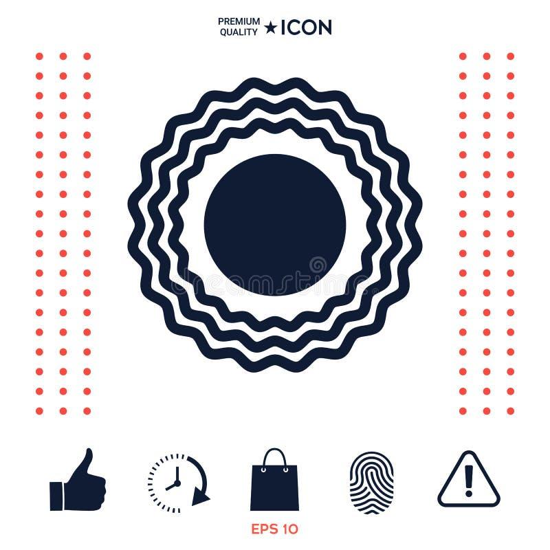 Download Simbolo dell'icona di Sun illustrazione vettoriale. Illustrazione di figura - 117977194