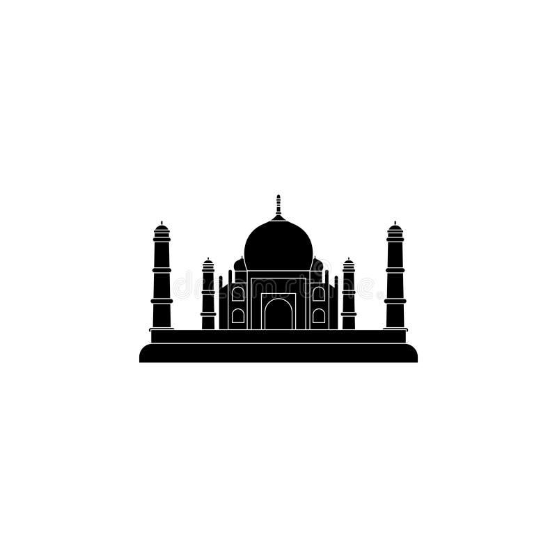 Simbolo dell'icona di Taj Mahal royalty illustrazione gratis