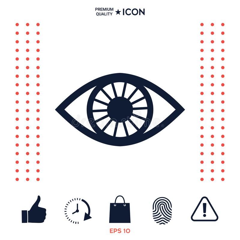 Download Simbolo Dell'icona Dell'occhio Illustrazione Vettoriale - Illustrazione di medicina, maschio: 117975022