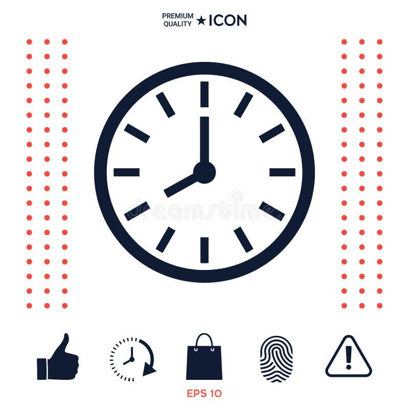 Download Simbolo Dell'icona Dell'orologio Illustrazione Vettoriale - Illustrazione di icona, simbolo: 117977576