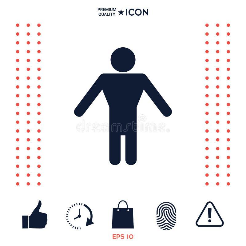 Download Simbolo Dell'icona Dell'uomo Illustrazione Vettoriale - Illustrazione di signore, restroom: 117975874