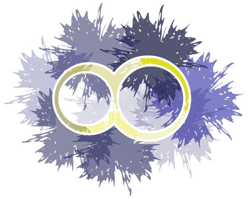 Simbolo dell'infinito fatto con i punti isolati illustrazione vettoriale