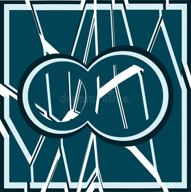 Simbolo Dell'infinito Su Fondo Con Struttura Illustrazione ...