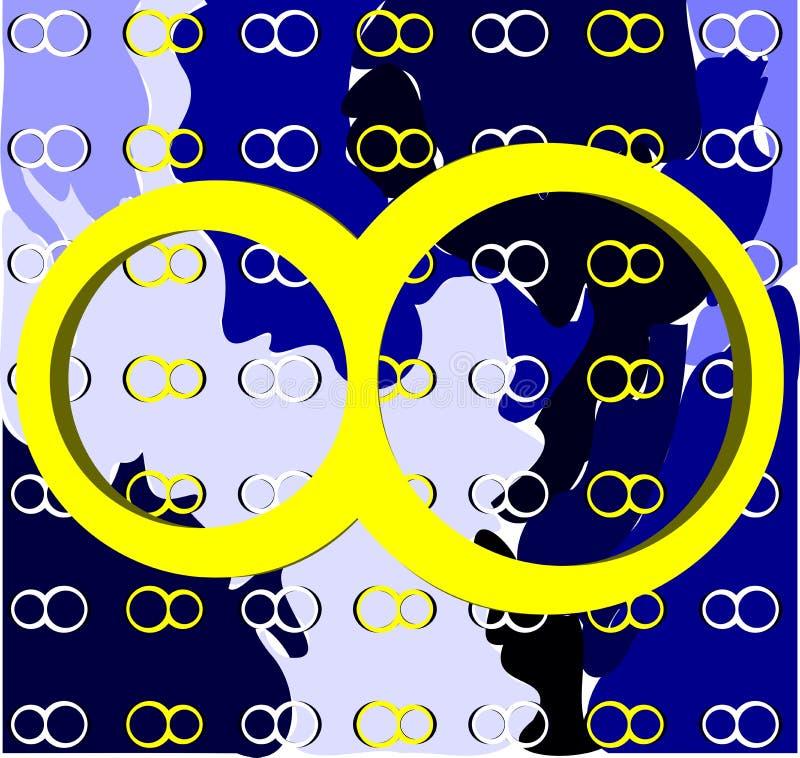 Simbolo dell'infinito su fondo con struttura illustrazione di stock