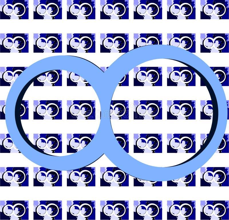 Simbolo dell'infinito su struttura variopinta royalty illustrazione gratis