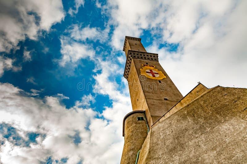 Simbolo dell'Italia della città di Lightouse Lanterna Genova fotografia stock libera da diritti