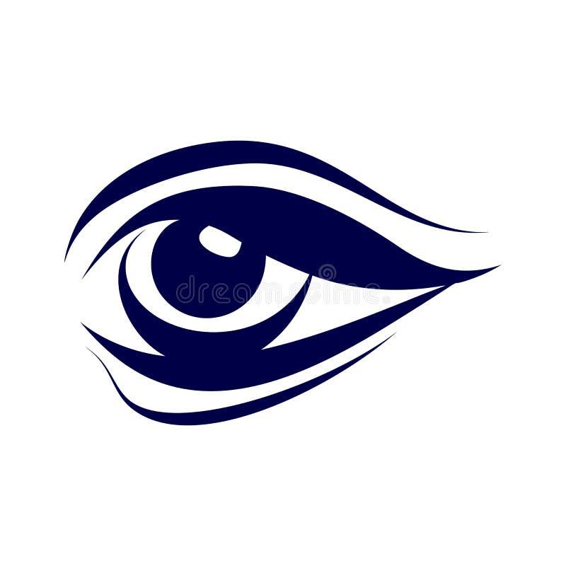 Simbolo dell'occhio illustrazione di stock