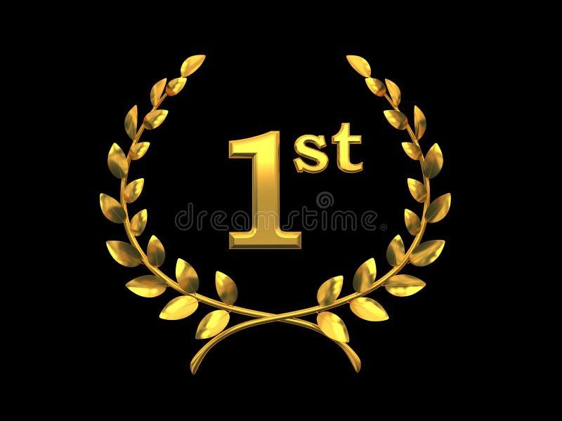 Simbolo dell'oro della vittoria illustrazione vettoriale