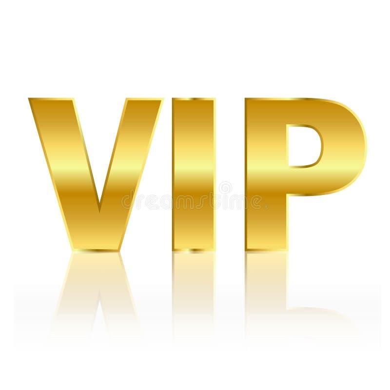 Simbolo dell'oro di VIP royalty illustrazione gratis