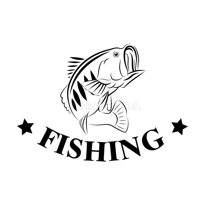 Simbolo dell'progettazione-illustrazione di pesca di vettore illustrazione di stock