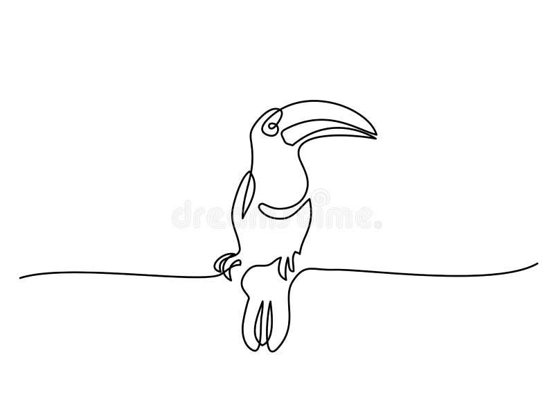 Simbolo dell'uccello di Tukan illustrazione di stock