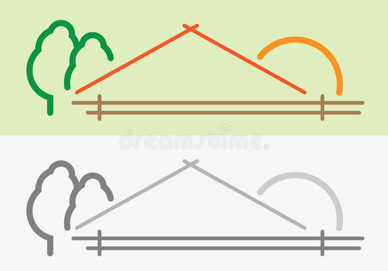 Simbolo della casa dell'azienda agricola illustrazione vettoriale