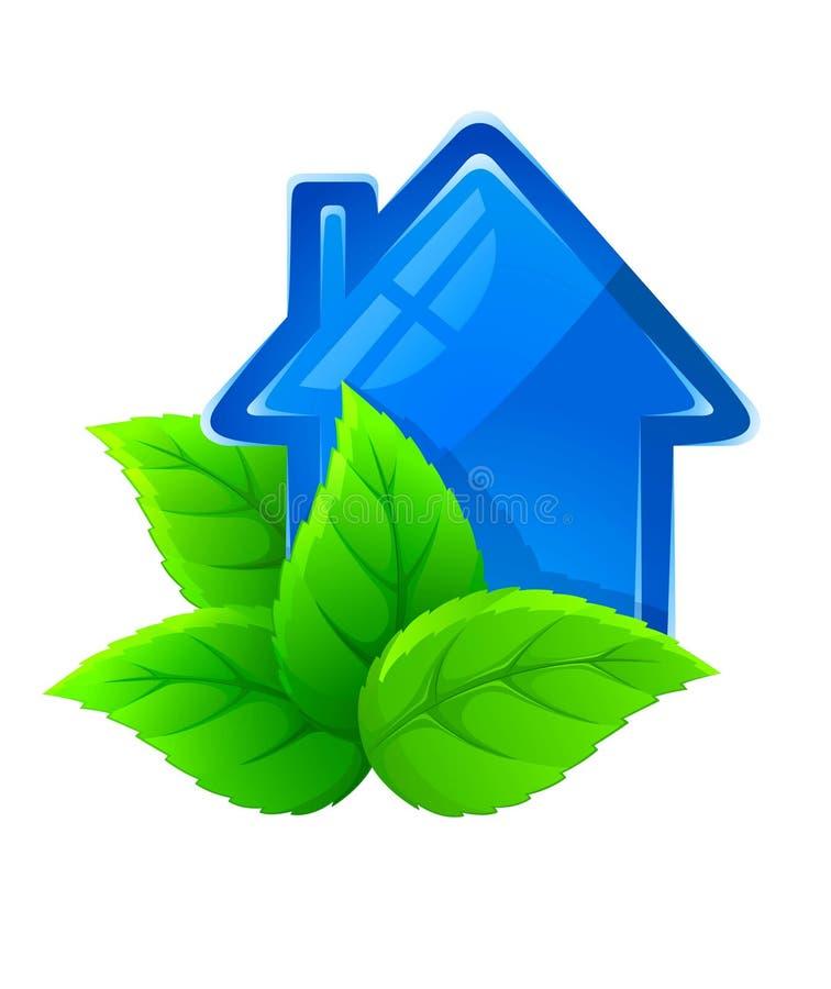 Simbolo della casa ecologica immagine stock libera da for Design della casa libera