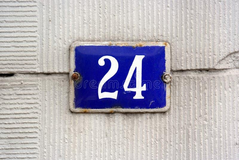 Simbolo della casa numero 24 fotografia stock