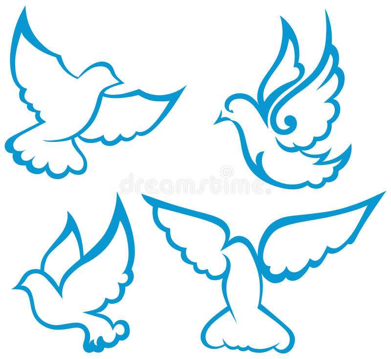 Simbolo della colomba di vettore illustrazione vettoriale