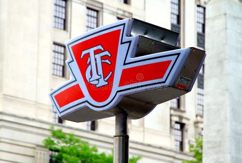 Simbolo della Commissione di transito di Toronto immagine stock libera da diritti