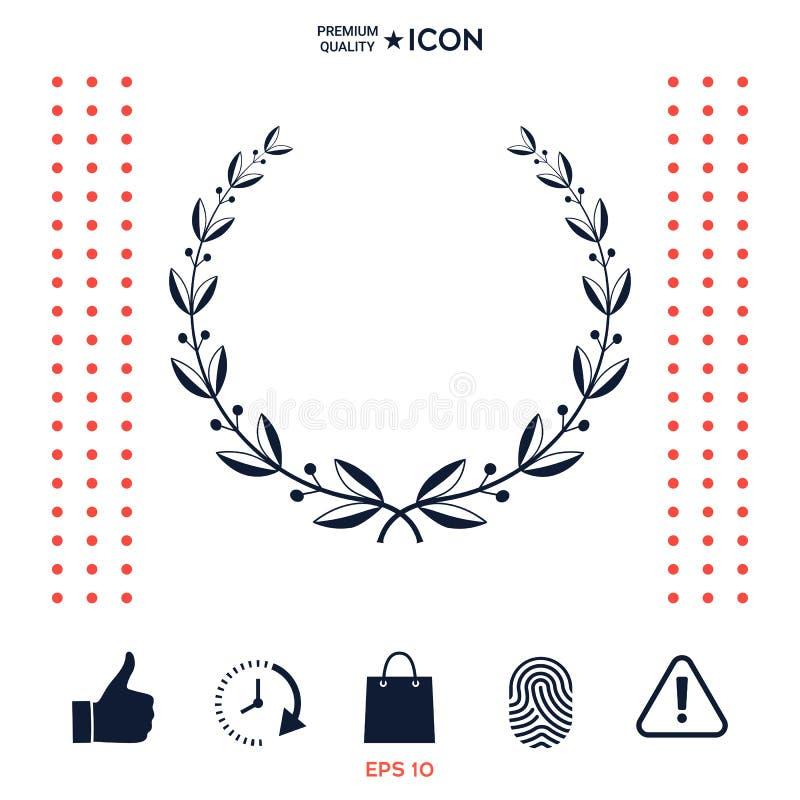 Download Simbolo Della Corona Dell'alloro Illustrazione Vettoriale - Illustrazione di alloro, illustrazione: 117975764