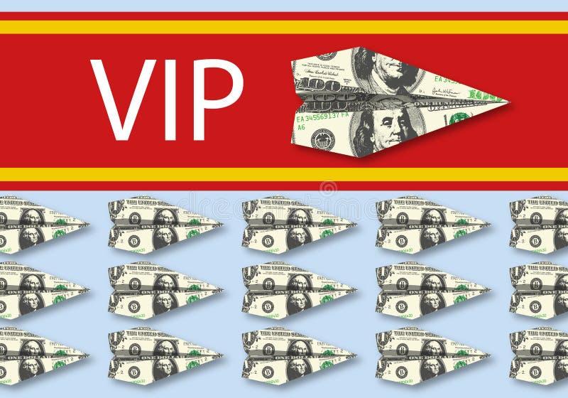 Simbolo della diseguaglianza fra il VIP e la gente con l'illustrazione di una passaggio-parte di destra illustrazione di stock