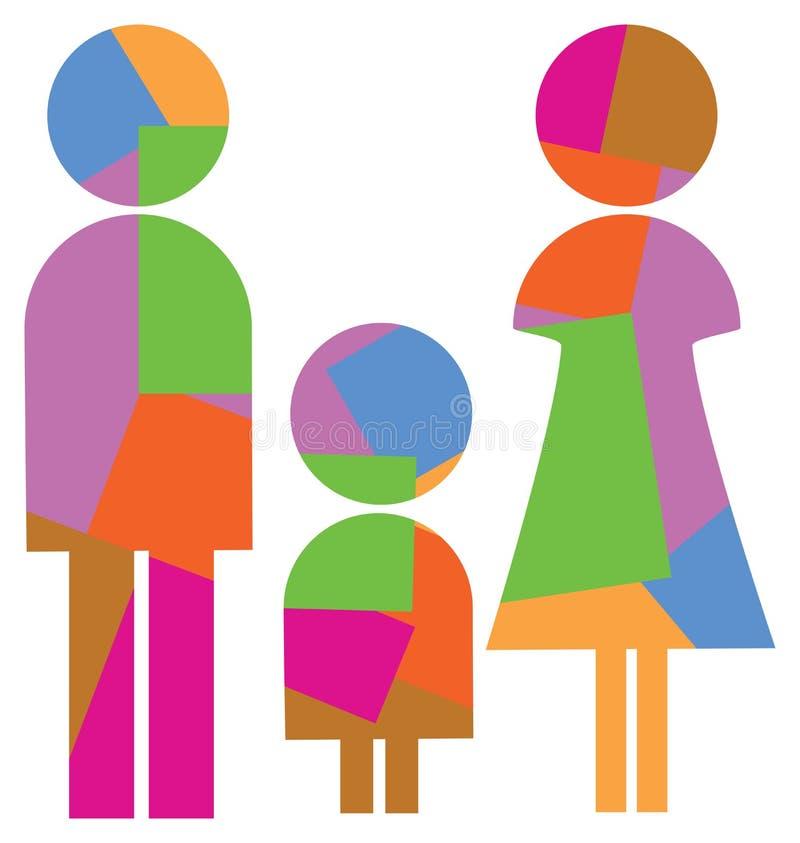 simbolo della famiglia illustrazione vettoriale