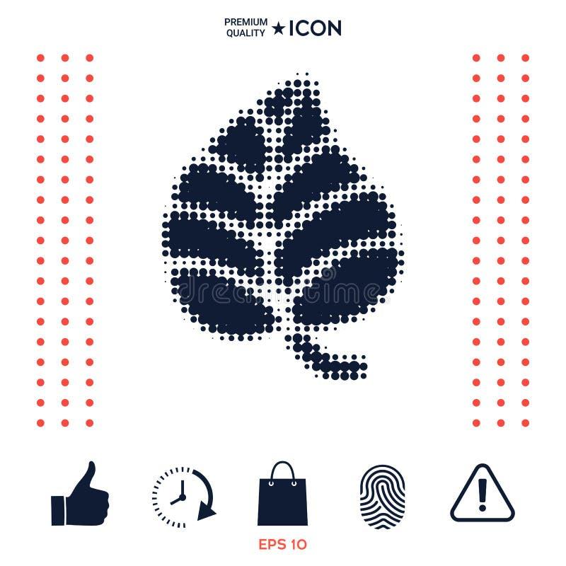 Download Simbolo Della Foglia - Logo Di Semitono Illustrazione Vettoriale - Illustrazione di pace, pianta: 117975790