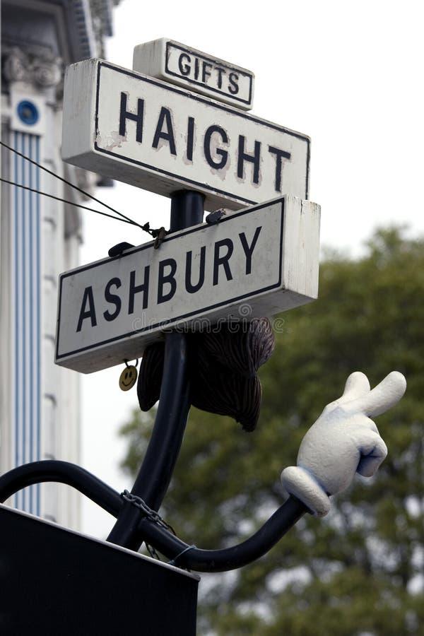 Simbolo della Haight Street a San Francisco fotografie stock libere da diritti