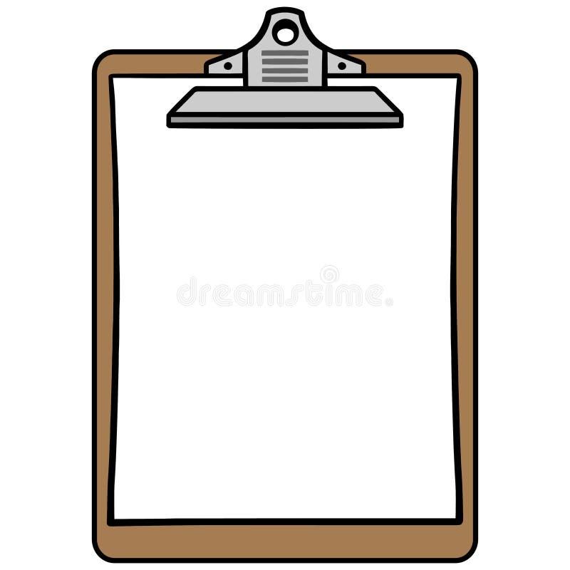 Simbolo della lavagna per appunti illustrazione di stock
