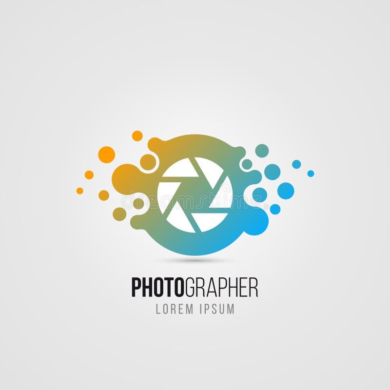 Simbolo della macchina fotografica nello stile moderno Icona creativa Vettore royalty illustrazione gratis