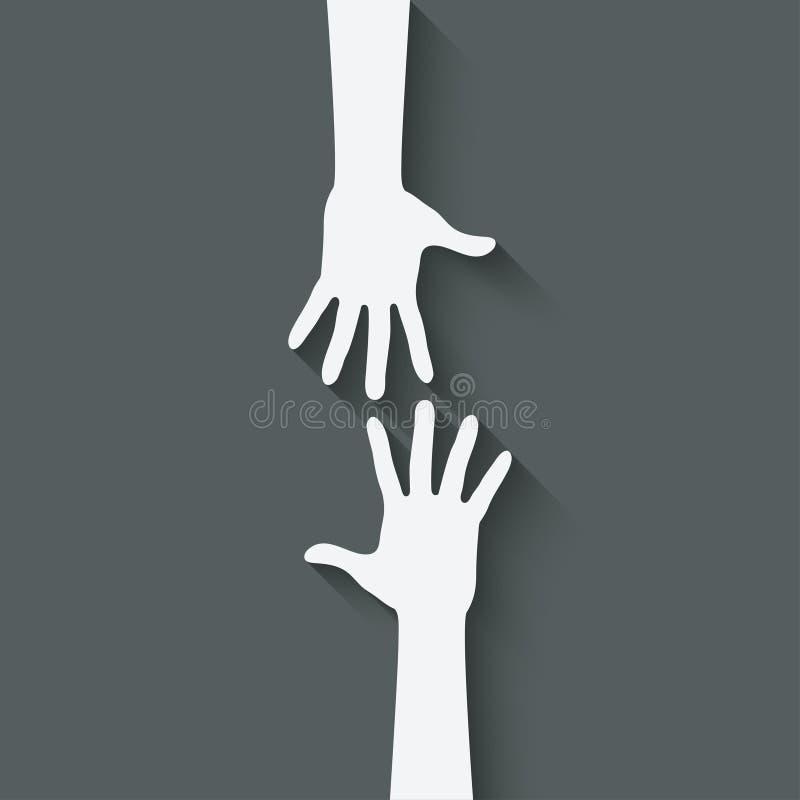 Simbolo della mano amica illustrazione di stock
