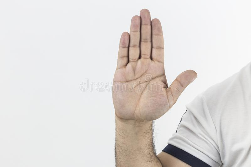 Simbolo della mano - fermi su fondo bianco immagine stock libera da diritti