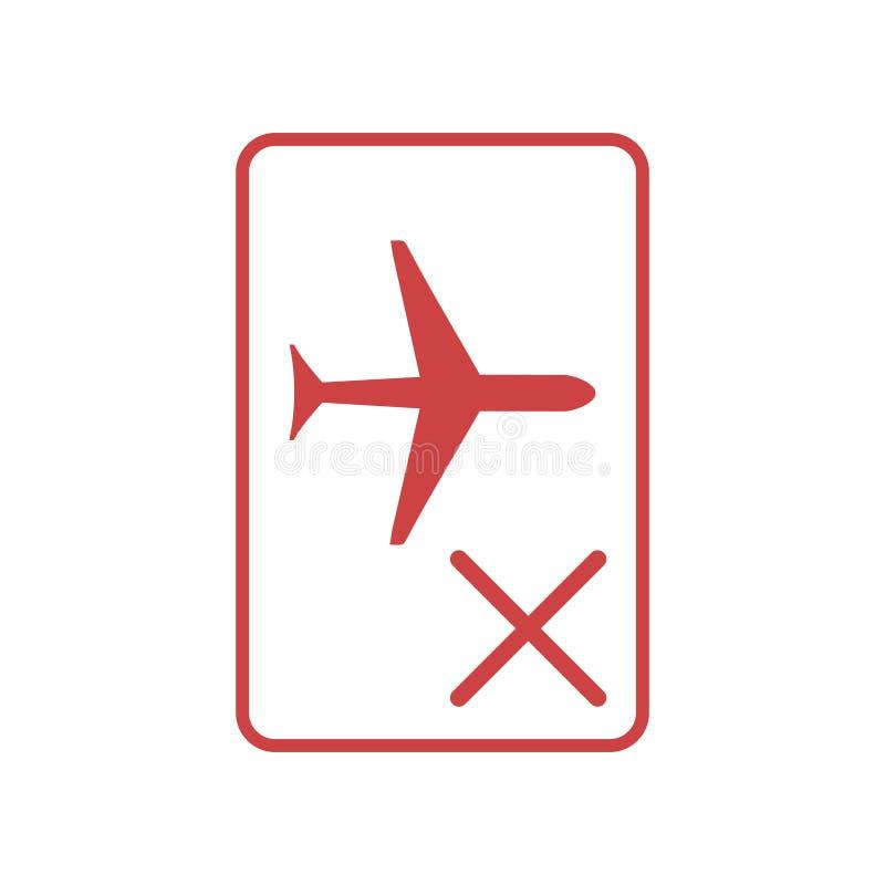 Simbolo della modalità velivolo illustrazione vettoriale