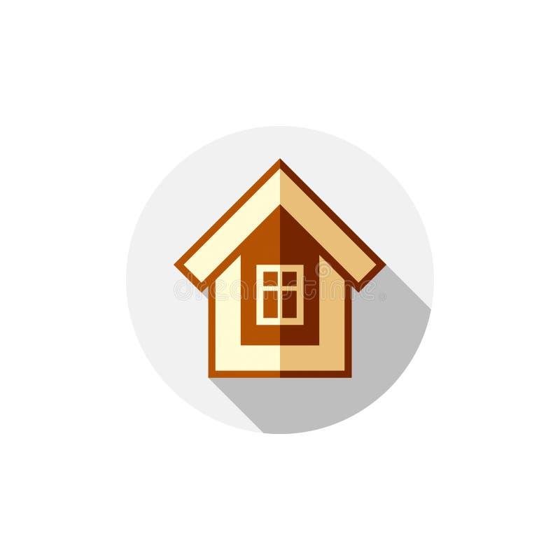 Simbolo della proprietà, casa di vettore costruita con i mattoni Esta reale royalty illustrazione gratis
