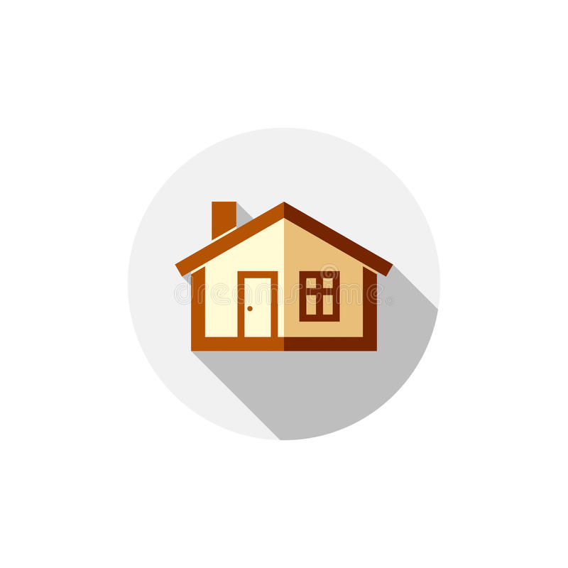Simbolo della proprietà, casa di vettore costruita con i mattoni Esta reale illustrazione vettoriale