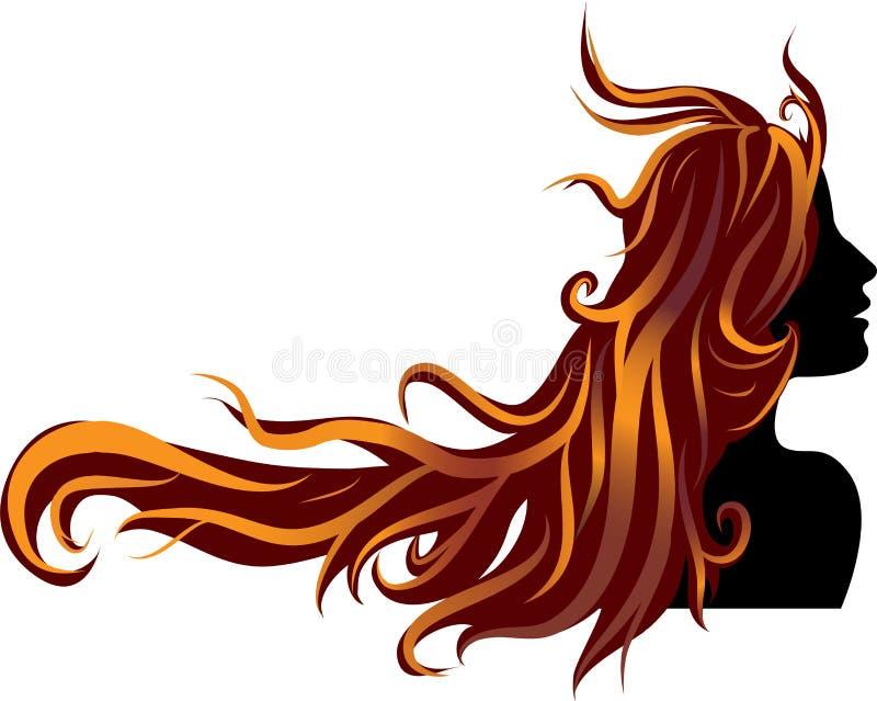 Simbolo della ragazza illustrazione vettoriale
