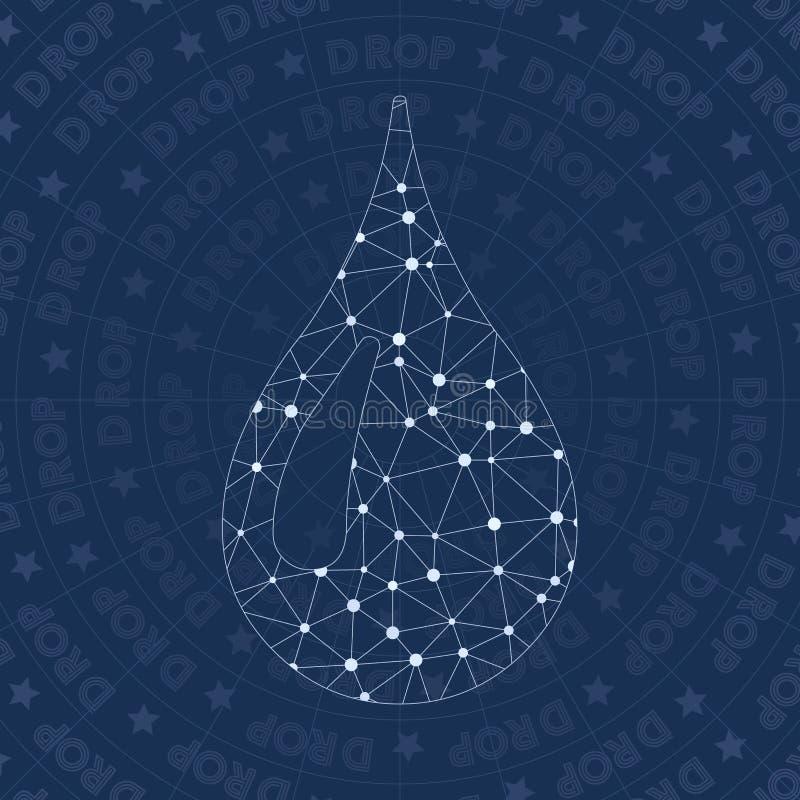 Simbolo della rete della gocciolina royalty illustrazione gratis