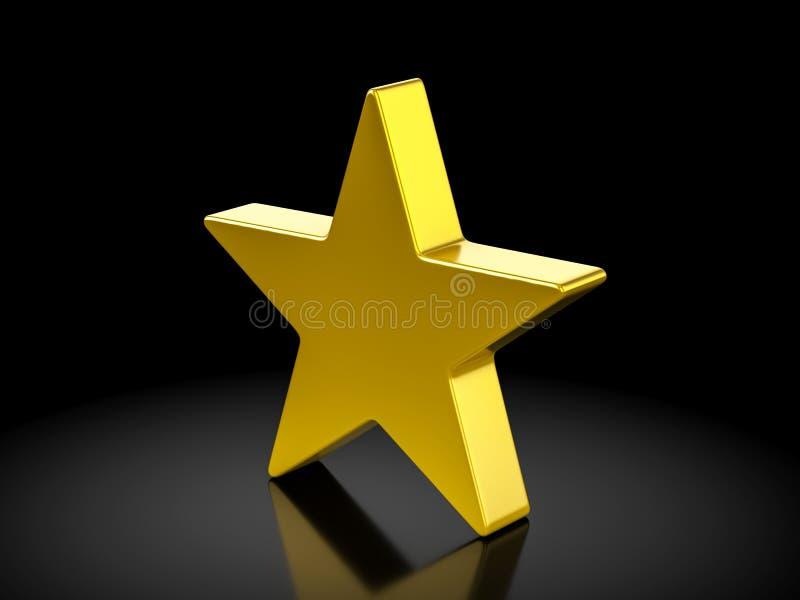 Simbolo della stella d'oro illustrazione di stock
