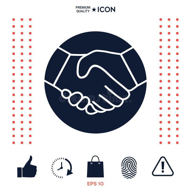 Download Simbolo Della Stretta Di Mano Nel Cerchio Icona Illustrazione Vettoriale - Illustrazione di affare, rapporto: 117977236